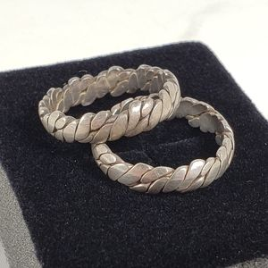 Sterling Silver Rings Wedding Bands 9.5